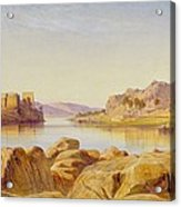 Philae - Egypt Acrylic Print by Edward Lear