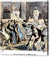 Philip II (382-336 B.c.) Acrylic Print