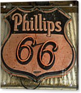 Phillips 66 Vintage Sign Acrylic Print