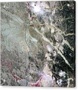 Phosphate Mines, Jordan Acrylic Print by Nasa