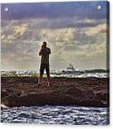 Photographing Seaside Life Acrylic Print