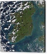 Phytoplankton Bloom Off The Coast Acrylic Print