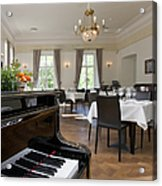 Piano In A Upscale Dining Room Acrylic Print