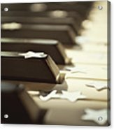 Piano Keys And Stars Acrylic Print by Photo - Lyn Randle