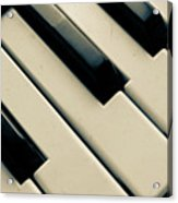 Piano Keys Acrylic Print by Dm909