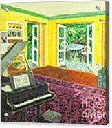 Piano Room Variation I Acrylic Print