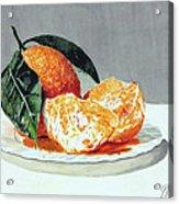 Piatto Con Arance Acrylic Print