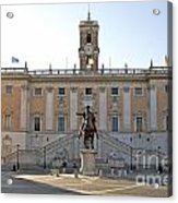 Piazza Del Campidoglio. Capitoline Hill. Rom Acrylic Print by Bernard Jaubert
