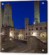 Piazza Duomo At Dusk Acrylic Print by Rob Tilley