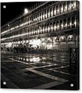 Piazza San Marco At Night Venice Acrylic Print