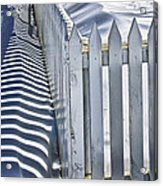 Picket Fence In Winter Acrylic Print