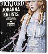 Pickford Film Poster, 1918 Acrylic Print