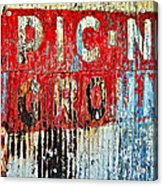 Picnic Ground Acrylic Print