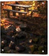 Picnic Table Acrylic Print by Utah Images