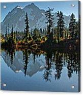 Picture Lake - Heather Meadows Landscape In Autumn Art Prints Acrylic Print