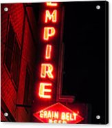 Picture Of Empire Tavern And Liquors Sign Fargo Nd Acrylic Print