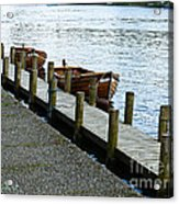 Pier At Lake Windemere Acrylic Print