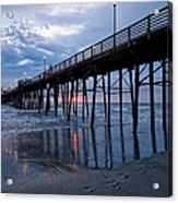 Pier At Sundown Acrylic Print