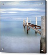 Pier In Pampelonne Beach Acrylic Print by Dhmig Photography