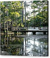 Pier In The Swamp Acrylic Print