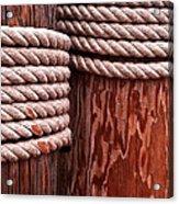 Pier Ropes Acrylic Print