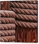 Pier Ropes II Acrylic Print