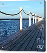 Pier To The Ocean Acrylic Print