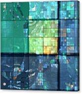 Piercing Geo Green Acrylic Print
