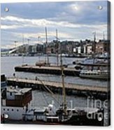 Piers Of Oslo Harbor Acrylic Print