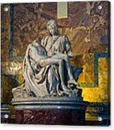 Pieta By Michelangelo Circa 1499 Ad Acrylic Print