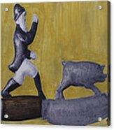 Pig Chasing Acrylic Print