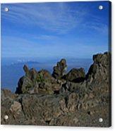 Pihanakalani Haleakala - House Of The Sun - Summit Sunrise Maui Acrylic Print by Sharon Mau