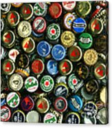 Pile Of Beer Bottle Caps . 9 To 12 Proportion Acrylic Print