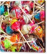 Pile Of Lollipops - Painterly Acrylic Print