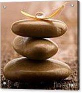 Pile Of Massage Stones Acrylic Print
