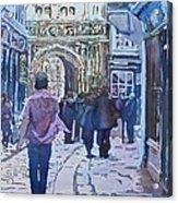 Pilgrims At The Gate Acrylic Print
