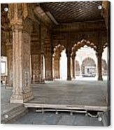Pillars Of Building Inside Red Fort Acrylic Print