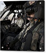 Pilot In The Cockpit Of A Uh-60l Acrylic Print