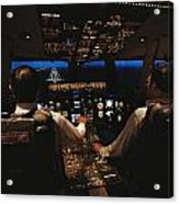 Pilots In The Cockpit Of An Aircraft Acrylic Print