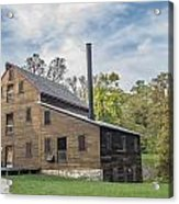 Pine Creek Grist Mill At Fall Acrylic Print