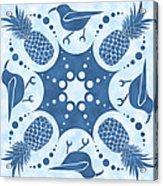 Pineapple And IIwi Hawaiian Quilt Block Acrylic Print