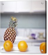 Pineapple And Oranges Acrylic Print