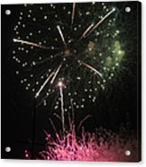 Pink And Green Delight Acrylic Print