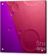 Pink And Purple Bubbles Acrylic Print
