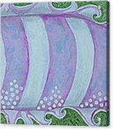 Pink And White Stylized Fantasy Fish Acrylic Print