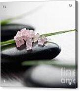 Pink Bath Salt Acrylic Print
