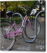 Pink Bicycle . 7d10159 Acrylic Print