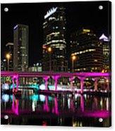 Pink Bridge Acrylic Print