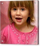 Pink Bubbles Acrylic Print