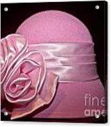 Pink Cloche Hat Acrylic Print